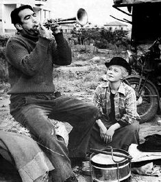 LA STRADA ... avec Anthony Quinn et Giulietta Masina ... un chef-d'oeuvre signé Federico Fellini (1954) - @classiquecom