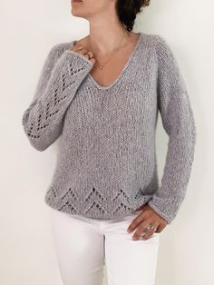 Sweater Knitting Patterns, Knitting Stitches, Knit Patterns, Free Knitting Patterns For Women, Ravelry, Pull Mohair, Cashmere Color, Summer Sweaters, Women's Sweaters
