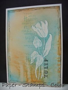 PAPER - STAMPS - COLOR: Tulips from Amsterdam....