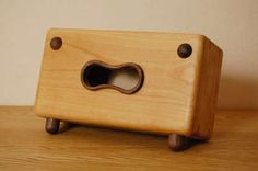 Personified Wooden Tissue Boxes - These Wacky Tissue Boxes Will Put a Smile on Anyone's Face (GALLERY)