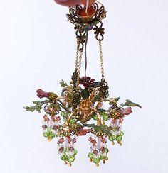 1 12 Scale Handmade Chandelier Light Lighting Art Deco Dollhouse Miniature   eBay