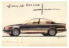 OG   1987 BMW 5 Series - E34   Proposal render dated 1982 from Ercole Spada.