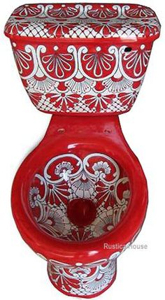 #myRustica House #mexican #toilet #seats, #talavera toilets, #sink and #ceramic bath accessory collection includes #classic #colonial, #Spanish #traditional and Mexican #folk art #style. Most classic colonial and Mexican folk #art #Mexicantoilet patterns were inspired by #old #European and #Spanish #hacienda #tradition. Our #handpainted mexican toilets, ceramic WC decor & bath accessories are painted with #leadfree paints and available in custom #colors.