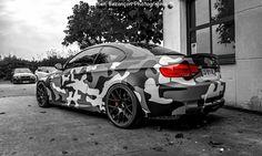 BMW E92 M3 camo