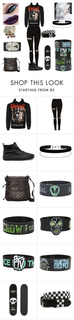 """""""waiting for my ride"""" by threedaystoremember ❤ liked on Polyvore featuring Topshop, Vans, Aime, Miss Selfridge, T-shirt & Jeans and Zero"""