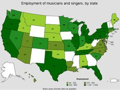 The Best Geographic Regions for Working Musicians and Singers...