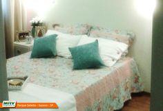 Apartamento decorado 2 dormitórios do Parque Seletto no bairro Casa Branca - Suzano - SP- MRV Engenharia - Quarto Casal