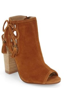Kristin Cavallari 'Legend' Peep Toe Zip Bootie (Women) available at #Nordstrom