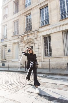 Balenciaga Jacket, Balenciaga Blazer, DIY, cropped flares, celine sneakers, celine shoes, LV Bag, Louis Vuitton Bag, Celine Sunglasses, Paris Street Style, Amanda Shadforth, Oracle Fox