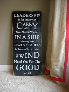 Leadership...a foundation for change.