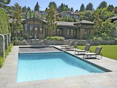 Our Hydramatic automatic swimming pool safety cover installed on a beautiful pool in Vancouver BC, built by Alka Pool Construction.