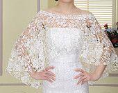 bridal lace top, wedding top, bridal cover up, wedding jacket ,bridal Lace bolero ,wedding lace capelet, wedding lace bolero, Bride Shawl