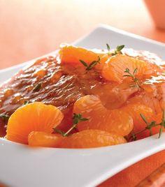 Pechuga de pavo en salsa de arándanos con mandarina