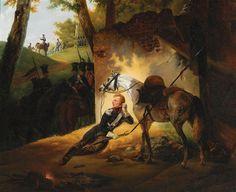 Officier polonais lancier au repos pendant les guerres napoléoniennes