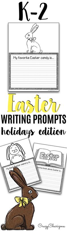 Are you ready for Easter? Grab these writing prompts which are quick and will definitely engage your little kids. The set can help you take your students through the writing process and get them excited about it. This packet includes 20 writing prompts. | CrazyCharizma