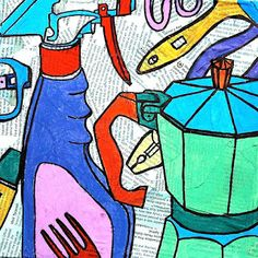 arteascuola: Pizza box inspired by Michael Craig-Martin