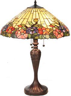 Hollyhock Table Lamp - Tiffany lamp!