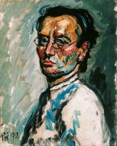 Bertalan Pór ( Hungarian, Self-portrait, Nemzeti Galéria, Budapest Avantgarde, Old Portraits, Georges Braque, Traditional Paintings, Gustav Klimt, Museum Collection, Henri Matisse, Museum Of Fine Arts, Impressionism