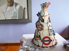 Transport for London cake Wedding Cake Designs, Wedding Cakes, London Overground, Lemon And Coconut Cake, London Cake, Hazelnut Butter, Birthday Cake, 5th Birthday, Lemon Recipes