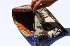 Retro deer clutch by FloatingChairs on Etsy, $34.00