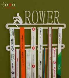 Rowing medal display double hanger by SportContour on Etsy
