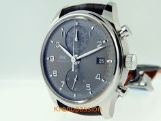 IWC Portuguese Chronograph Classic Stainless Steel Ref.3904-04 New ! #IWC #LuxuryDressStyles