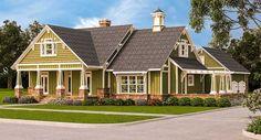 Plan 55174BR: Craftsman with Porches, Pergola and Bonus Room