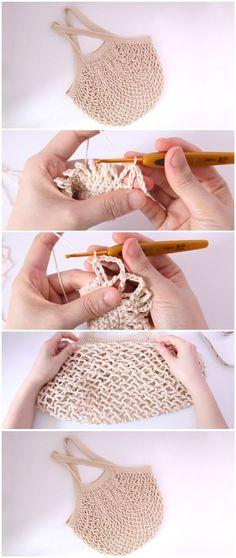 Crochet Beautiful Tote Bag - Free Pattern [Video] - Crochet Tutorials and Patterns Bag Crochet, Crochet Baby Beanie, Crochet Shell Stitch, Crochet Diy, Crochet Handbags, Crochet Purses, Love Crochet, Beautiful Crochet, Funny Crochet