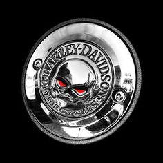 Red Eye Harley Skull  by Gill Billington