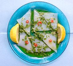 sashimi di calamari all'italiana
