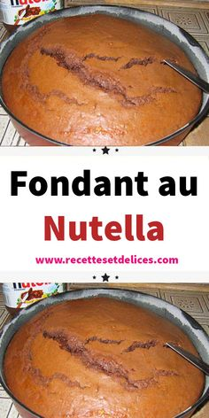 Who can resist Nutella and chocolate? Discover this all chocolate and hazelnut cake Apple Desserts, Chocolate Desserts, Delicious Desserts, Desserts Nutella, Cheesecake Recipes, Dessert Recipes, Nutella Cheesecake, Kreative Desserts, Hazelnut Cake