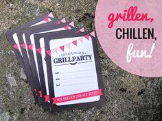 Planst du eine #Grillparty? Hier gibts die #Einladung als #Freebie!