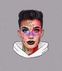 Cool Makeup Looks, Crazy Makeup, Drawing People, People Drawings, Sister Wallpaper, Drawing Ideas List, Outlines, Art Girl, Amazing Art