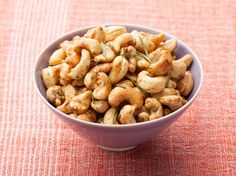 Rosemary Roasted Cashews - cashews, fresh rosemary, cayenne, dark brown sugar, salt, butter