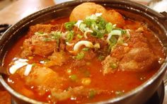 Warm up with a soothing bowl of steaming Gamjatang: Korean Pork Bone Soup