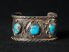 Items similar to Vintage Turquoise Navajo Inspried Cuff, Vintage SIlver Cuff Bracelet, Vintage Bracelet, Native American Jewlery on Etsy Vintage Turquoise Jewelry, Turquoise Cuff, Turquoise Bracelet, Vintage Silver, Silver Jewellery Indian, Silver Jewelry, Navajo Jewelry, Ethnic Jewelry, Silver Bracelets