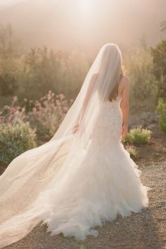 Loveshine Shine Love Soft Tulle Wedding Bridal Veil Chapel Long Cathedral Veil For Bride Mod Wedding, Wedding Veils, Dream Wedding, Table Wedding, Rustic Wedding, Wedding Dress Trends, New Wedding Dresses, Wedding Photographie, Wedding Styles