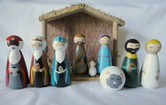This is for the complete Nativity Peg Doll Set, not including the creche. By purchasing the entire set at once you receive a discount on the price.
