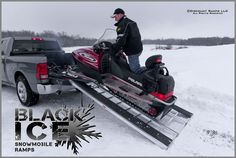 """Tri-fold Snowmobile Ramp, 94""""L x 54""""W from Discount Ramps. Also available 60""""L. $239.99"""
