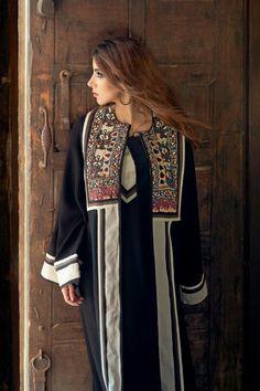 Shehana Designs #abaya #kaftan #caftan #jalabiya #bisht #arabfashion #dara #muslimfashion #asianfashion #middleeastern #luxury #elegant #modest Muslim Women Fashion, Arab Fashion, African Fashion, Kimono Fashion, Modest Fashion, Kaftan Designs, Afghani Clothes, Kaftan Style, Afghan Dresses