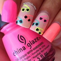 Sunglasses awesome nails pink cool