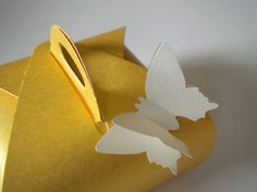 yellow butterfly favor boxes