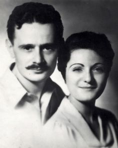 """Abel Meeropol with his wife Anne. He was famous for writing """"Strange Fruit"""" sung by Billie Holiday. But he also adopted Julius and Ethel Rosenberg's 2 boys...who knew?!"""