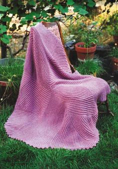 Oat Couture--Annie Dempsey--Knitted Curlicue Coverlet