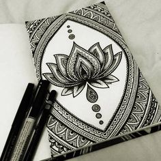 amazing, art, black and white, drawing, flor, lotus flower, mandala, meditation, loto                                                                                                                                                                                 Más