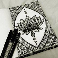 amazing, art, black and white, drawing, flor, lotus flower, mandala, meditation, loto