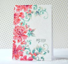 "Inspired by Japanes Peony art, we have created a set of solid images of Peonies and swirls. When you need those quick and simply stamped cards, this will be the perfect set to go to! This is a 4"" x 6"""