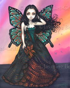 Fairy Pictures: Butterfly Sunset  by Jasmine Becket-Griffith