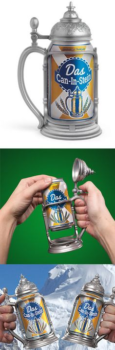 Slip Your Drink Into Your Das Can-In-Stein And Brace For The Impending Carousing. Just In Time For Octoberfest!