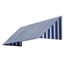 Awntech 304.5-In Wide X 24-In Projection Bright Blue/White Stripe Slop